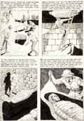 "Original Comic Art:Panel Pages, Reed Crandall Eerie #5 ""The Mummy Stalks"" Page 3 OriginalArt (Warren, 1966)...."