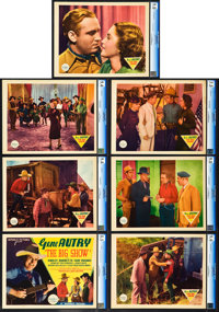 "The Big Show (Republic, 1937). Title Lobby Card and Lobby Cards (6) (11"" X 14""). ... (Total: 7 Items)"