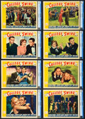 "Movie Posters:Comedy, College Swing (Paramount, 1938). CGC Graded Lobby Card Set of 8(11"" X 14"").. ... (Total: 9 Items)"