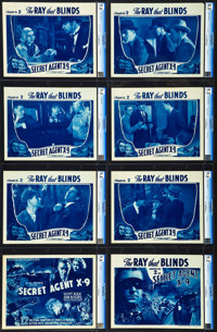 """Secret Agent X-9 (Universal, 1937). CGC Graded Lobby Card Set of 8 (11"""" X 14""""). Chapter 2 -- The Ray that Blin..."""
