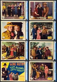 """Git Along Little Dogies (Republic, 1937). CGC Graded Lobby Card Set of 8 (11"""" X 14""""). ... (Total: 8 Items)"""