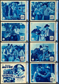 """Springtime in the Rockies (Republic, 1937). CGC Graded Lobby Card Set of 8 (11"""" X 14""""). ... (Total: 8 Items)"""