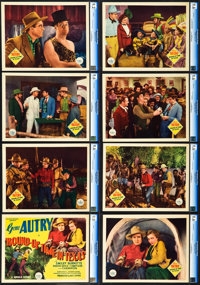 """Round-Up Time in Texas (Republic, 1937). Lobby Card Set of 8 (11"""" X 14""""). ... (Total: 8 Items)"""