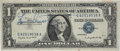 Music Memorabilia:Autographs and Signed Items, Louis Armstrong Autographed $1 Silver Certificate Bill....