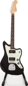 Musical Instruments:Electric Guitars, 2011 Fender MIM Blacktop Jazzmaster Black Solid Body ElectricGuitar, #MX11068971....