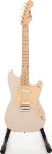 Musical Instruments:Electric Guitars, 1957 Fender Duo-Sonic Desert Tan Solid Body Electric Guitar,#023124....