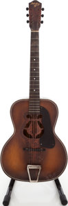 Musical Instruments:Acoustic Guitars, Circa 1940's Del Oro Chicago Sunburst Archtop Acoustic Guitar....
