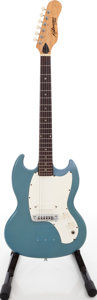 Musical Instruments:Electric Guitars, 1968 Kalamazoo Melody Maker Style Pelham Blue Solid Body Electric Guitar, #970217....