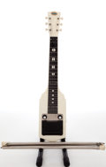 Musical Instruments:Lap Steel Guitars, 1964 Oahu Supro White MOTS Lap Steel Guitar....