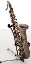 Musical Instruments:Horns & Wind Instruments, Circa 1920's H. Bettoney Boston Model Silver Alto Saxophone, #P142277....