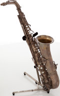 Musical Instruments:Horns & Wind Instruments, 1924 C.G. Conn C Silver Melody Saxophone, #122648....
