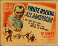 """Movie Posters:Sports, Knute Rockne - All American (Warner Brothers, 1940). Half Sheet (22"""" X 28"""") Style B. Sports.. ..."""