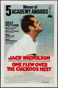 "Movie Posters:Academy Award Winners, One Flew Over the Cuckoo's Nest (United Artists, 1975).International One Sheet (27"" X 41"") Flat Folded Academy AwardsStyle..."
