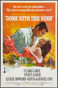 "Movie Posters:Academy Award Winners, Gone with the Wind (MGM, R-1968). One Sheet (27"" X 41"") Flat Folded. Academy Award Winners.. ..."