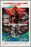 "Movie Posters:James Bond, The Spy Who Loved Me (United Artists, 1977). One Sheet (27"" X 41"") Flat Folded. James Bond.. ..."