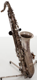 Musical Instruments:Horns & Wind Instruments, Circa 1920 Supertone Silver Melody Saxophone, #54789....
