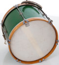 Musical Instruments:Drums & Percussion, 1957 WFL Snare Model Green Sparkle Drum....