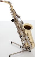 Musical Instruments:Horns & Wind Instruments, Circa 1998 Yamaha YAS-23 Brass Alto Saxophone, #168138....