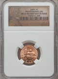 2009 1C Professional Life, First Day of Issue MS66 Red NGC. NGC Census: (0/0). PCGS Population (776/0). (#407853)...(PCG...