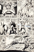 Original Comic Art:Panel Pages, Jack Kirby and Syd Shores Captain America #108 Trapster Page9 Original Art (Marvel, 1968).... (Total: 2 Items)