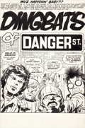 Original Comic Art:Splash Pages, Jack Kirby and Mike Royer Unpublished Dingbats of DangerStreet #2 Splash Page Original Art (c. 1973)....