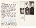 "Original Comic Art:Sketches, Robert Crumb Hand-Lettered ""Almanac"" Note to Marty Pahls With Sketches Original Art dated 7-22-59 (1959)...."