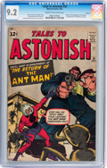 Silver Age (1956-1969):Superhero, Tales to Astonish #35 Circle 8 pedigree (Marvel, 1962) CGC NM- 9.2Cream to off-white pages....