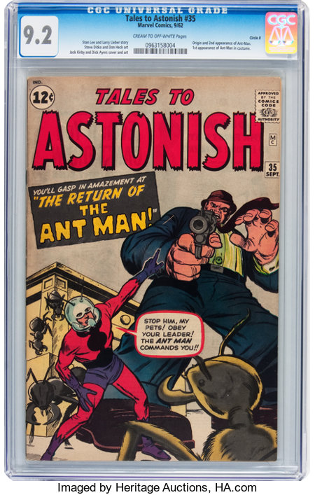 Tales to Astonish #35 Circle 8 pedigree (Marvel, 1962) CGC NM- 9.2 Cream to off-white pages....