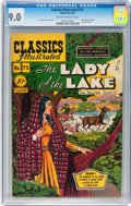 Golden Age (1938-1955):Classics Illustrated, Classics Illustrated #75 The Lady of the Lake - Original Edition(Gilberton, 1950) CGC VF/NM 9.0 Off-white to white pages....
