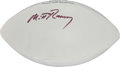 Football Collectibles:Others, Circa 2012 Mitt Romney Signed Football....