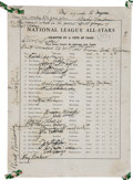 Football Collectibles:Programs, 1940 National League All Stars Team Signed Program Page....