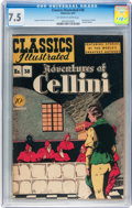 Golden Age (1938-1955):Classics Illustrated, Classics Illustrated #38 Adventures of Cellini - Original Edition(Gilberton, 1947) CGC VF- 7.5 Off-white to white pages....