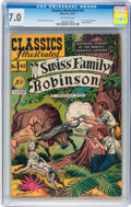 Golden Age (1938-1955):Classics Illustrated, Classics Illustrated #42 Swiss Family Robinson - Original Edition(Gilberton, 1947) CGC FN/VF 7.0 Off-white pages....