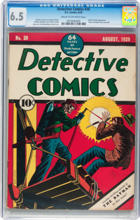 Detective Comics #30 (DC, 1939) CGC FN+ 6.5 Cream to off-white pages