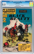 Golden Age (1938-1955):Classics Illustrated, Classics Illustrated #60 Black Beauty - Original Edition(Gilberton, 1949) CGC VF 8.0 Off-white to white pages....