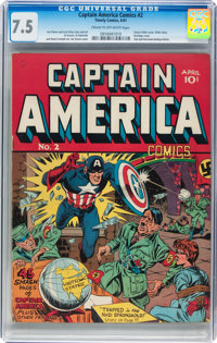 Captain America Comics #2 (Timely, 1941) CGC VF- 7.5 Cream to off-white pages