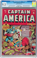 Golden Age (1938-1955):Superhero, Captain America Comics #4 (Timely, 1941) CGC NM- 9.2 Cream to off-white pages....
