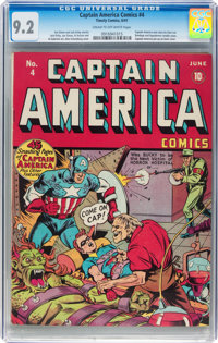 Captain America Comics #4 (Timely, 1941) CGC NM- 9.2 Cream to off-white pages