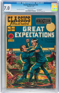 Golden Age (1938-1955):Classics Illustrated, Classics Illustrated #43 Great Expectations - Original edition(Gilberton, 1947) CGC FN/VF 7.0 Cream to off-white pages....