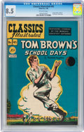 Golden Age (1938-1955):Classics Illustrated, Classics Illustrated #45 Tom Brown's School Days - Original edition(Gilberton, 1948) CGC VF+ 8.5 Off-white pages....