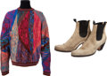 Music Memorabilia:Costumes, The Who - John Entwistle's Sweater and Boots.... (Total: 3 Items)