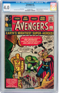 Silver Age (1956-1969):Superhero, The Avengers #1 (Marvel, 1963) CGC VG 4.0 Cream to off-whitepages....