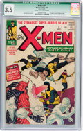 Silver Age (1956-1969):Superhero, X-Men #1 (Marvel, 1963) CGC Qualified VG- 3.5 Cream to off-whitepages....
