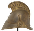 Decorative Arts, Continental:Other , A FRENCH GILT METAL SAPEURS POMPIERS PARADE HELMET . Circa1848-1870. 9 inches high (22.9 cm). ...