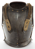 Decorative Arts, Continental:Other , A CONTINENTAL PATINATED METAL CUIRASSIER . 19th century . 17-1/2inches high (44.5 cm). ... (Total: 2 Items)