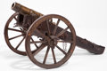 Miscellaneous, A CONTINENTAL BRONZE CANNON WITH IRON AND WOOD CARRIAGE . 18thcentury . 23-1/2 inches high x 43 inches long (59.7 x 109.2 c...(Total: 2 Items)