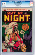 Golden Age (1938-1955):Horror, Out of the Night #8 (ACG, 1953) CGC VF- 7.5 Cream to off-whitepages....