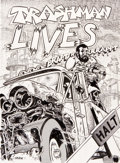 Original Comic Art:Covers, Spain Rodriguez Trashman Lives! Back Cover Original Art(Fantagraphics, 1989)....