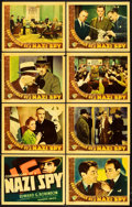 "Movie Posters:Drama, Confessions of a Nazi Spy (Warner Brothers, 1939). Lobby Card Set of 8 (11"" X 14"").. ... (Total: 8 Items)"