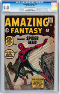 Silver Age (1956-1969):Superhero, Amazing Fantasy #15 (Marvel, 1962) CGC VG/FN 5.0 Cream to off-whitepages....